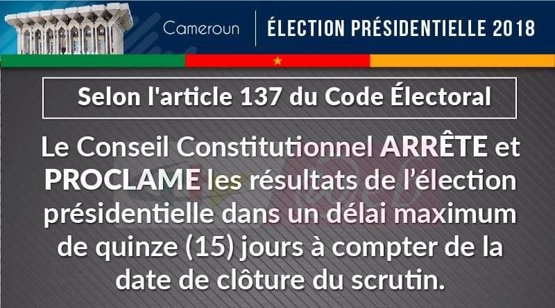 L'ARTICLE 137 du Code électoral