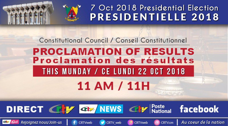 Proclamation of Results; 2018 Presidential Election