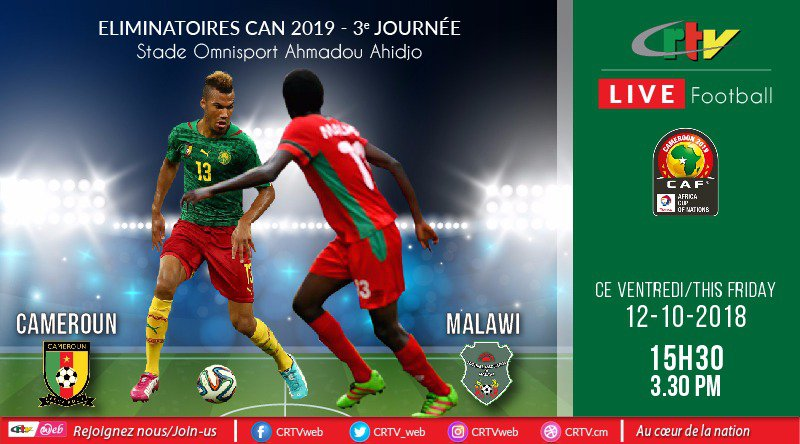 CAMEROON#MALAWI LIVE ON CRTV