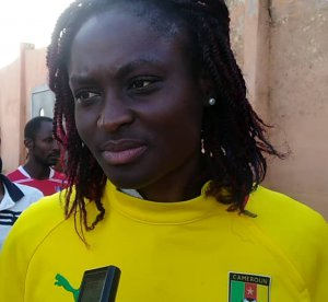 Marlyse Ngo NDOUMBOUCK, Cameroon's striker in the latest Cameroon training before Côte d'Ivoire's Climate Change Preparing for Ghana Women's CAN 201_