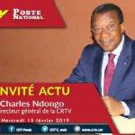 Invité Actu: Le Directeur Général de la CRTV au micro des Matinées de la CRTV – 13 Février 2019