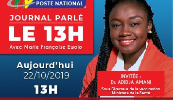 Invité du 13h00: Dr Adidja AMANI sur la question de l'Allaitement maternelle  – 22 Octobre 2019
