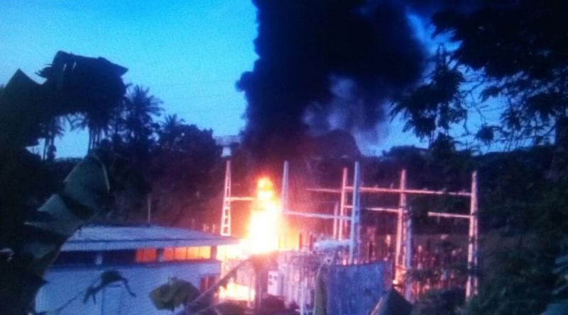 Deido transformer fire incident