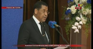 Lecture des Résolutions du Sommet extraordinaire des Chefs d'Etat de la CEMAC – 22 Novembre 2019