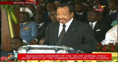 Triomphe de la 37ème Promotion de l'EMIA: Discours du Président de la République – 24 Janvier 2020