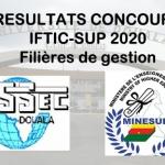 Résultats du concours d'entrée à l'ESSEC, campus de l'IFTIC-SUP – 25 Novembre 2020